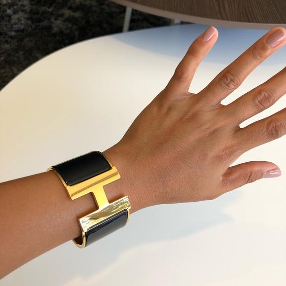 90d0377596f8 Hermes Jewelry - Authentic Hermes Clic Clac H Bracelet Black XL
